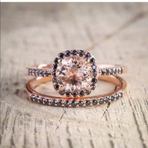 5⭐️Morganite Sapphire Rose Gold Ring
